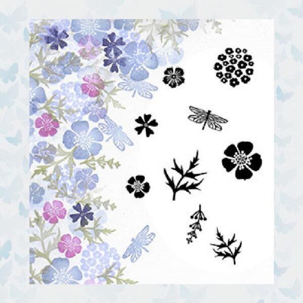 Majestix Clear Stamps Wild Flowers MAWI-05