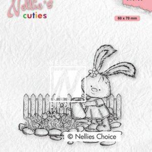 Nellies Choice Clearstempel - Cuties Lena Tuinieren NCCS001