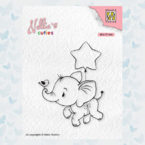 Nellies Choice Clear Stempel - Chris. Cuties - Olifant NCCS011