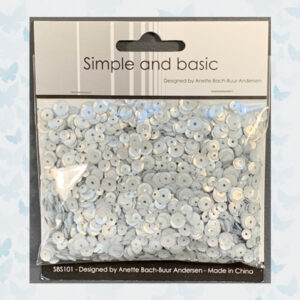 Simple and Basic Silver Sequin Mix (SBS101)