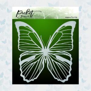 Picket Fence Studios Soar Butterfly 6x6 Inch Stencil (SC-185)