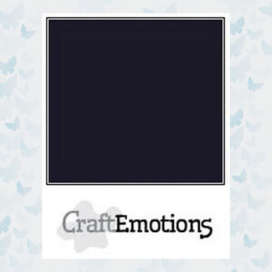 CraftEmotions Zwart Karton Glad SC-58 / A4