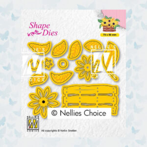 Nellies Choice Shape Die - Build-up Bloemen mandje SD193