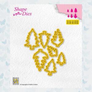 Nellies Choice Shape Die - Mini Dies Dennenboom-1 SD210