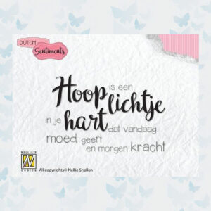 Nellie's Choice Clearstempel Sentiments - Hoop is een lichtje SENC009