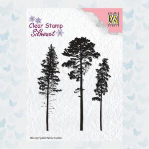 Nellies Choice Silhouette Stamp Naaldbomen SIL037