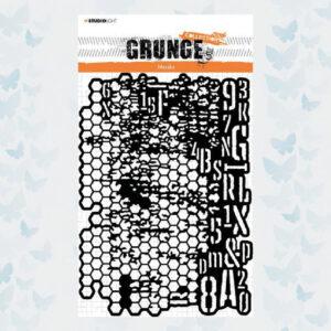 Studio Light Mask/Stencil Grunge Collection nr.16 SL-GR-MASK16