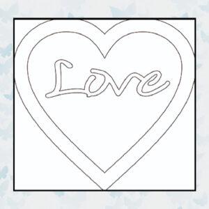 Majemask Stencil Framed Heart STFR-02