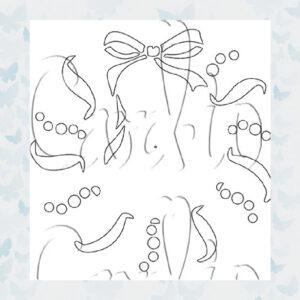 MajeMask Stencil Holiday Wreath STHO-02