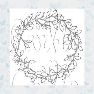 MajeMask Stencil Tattered Wreath STTA-01