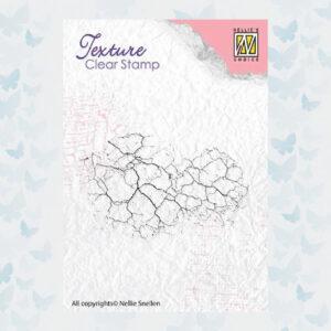 Nellie's Choice Clearstamp - Texture Crackle TXCS009
