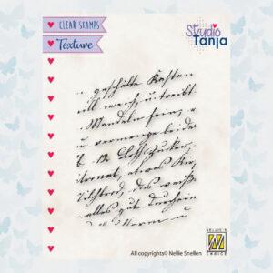 Nellies Choice Clear Stempel - Texture - Geschreven Tekst TXCS021