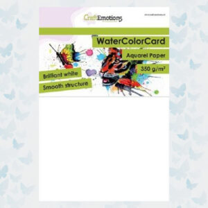 CraftEmotions WaterColor Card - Briljant Wit A5 - 001286/3330 - 10 vellen - 350 gr