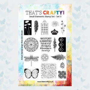 That's Crafty! Clearstamp A5 - Small Elements - Set 3 - 104774