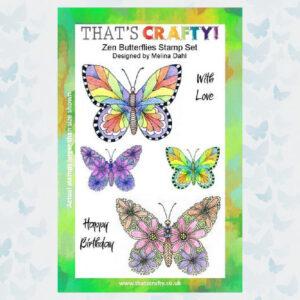 That's Crafty! Clearstamp A5 - Zen Butterflies 104960