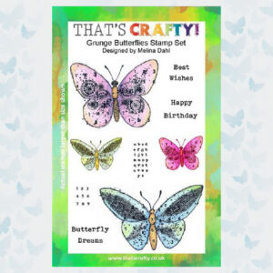 That's Crafty! Clearstamp A5 - Grunge Butterflies 104962