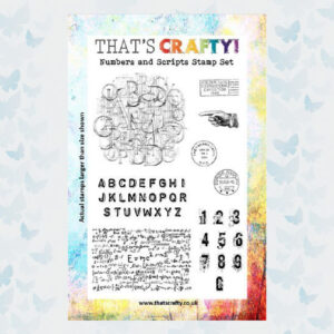 That's Crafty! Clearstamp A5 - Numbers and Scripts 105001