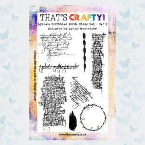 That's Crafty! Clearstamp A5 - Lynne's Scribbled Words - Set 2 105183