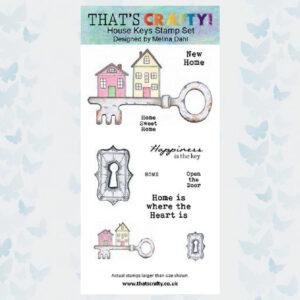 That's Crafty! Clearstamp slimline - House Keys 105489