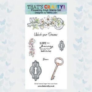 That's Crafty! Clearstamp slimline - Flowering Keys 105493