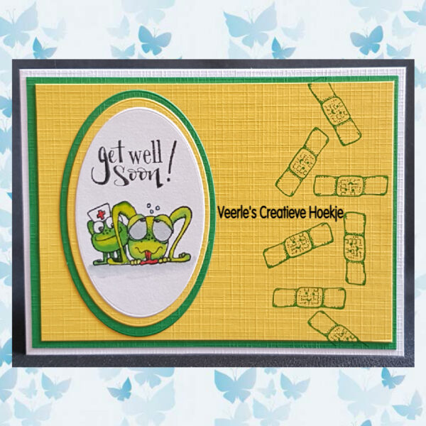 CraftEmotions Clearstamps - Get well 2 - Carla Creaties 130501/1508