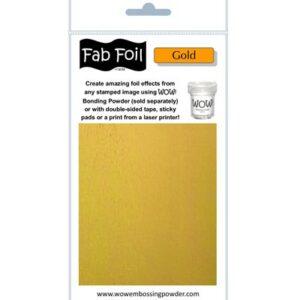 Wow! Fab Foil Bright Gold W216-GLD01