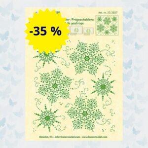 LeCrea - Embossing folder Snow Medaillon 35.3837