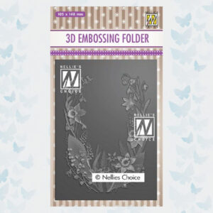 Nellies Choice 3D Emb. folder Bloemen Frame EF3D020