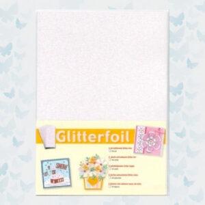 JEJE Zelfklevend Wit Glitter Folie 5xA4 Vel 3.0342