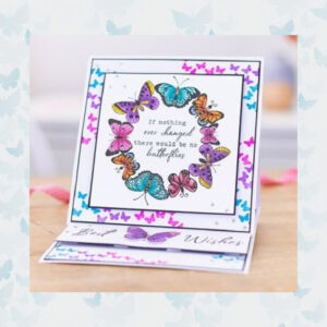 Crafter's Companion Ornate Butterflies Clear Stamps CC-STP-ORBU