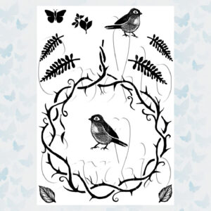 Card-io Clear Stempels Thorny Wreath and Sprigs CCST-THO-02