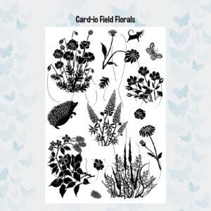 Card-io Clear Stempels Field Florals CCSTFIE-02