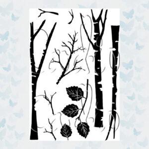 Card-io Clear Stempels Tall Trees