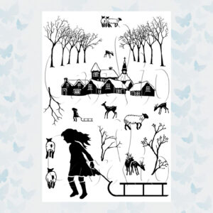 Card-io Clear Stempels Winter Wander