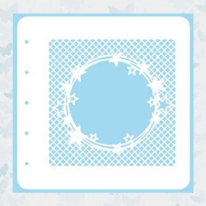 Nellie's Choice Stencil - Sterren in cirkels COLST006