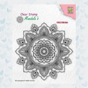 Nellies Choice Clearstamp Mandala - Zonnebloem CSMAN002