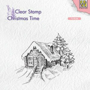 Nellies Choice Clearstempel - Chris. time Cosy snowy cottage CT030
