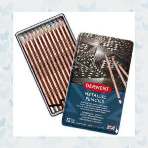 Derwent Pencils Metallic Colours 12pcs DMP2305599