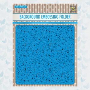 Nellie's Choice 3D Embossing Folder - Achtergrond Dots EEB030