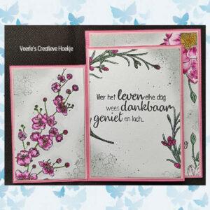 Nellies Choice Clearstempel Flowers - Bloesem tak FLO027