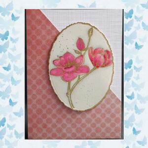 Nellies Choice Clearstempel Flowers - Magnolia Tak FLO028