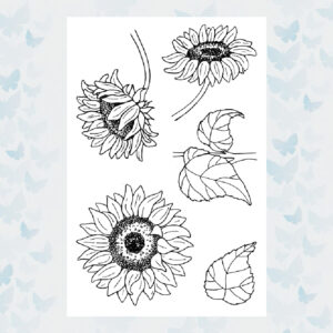 Jane's Doodles Clear Stamps Sunflowers JD029