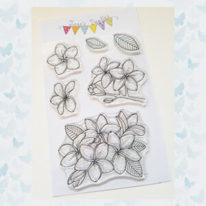 Jane's Doodles Clear Stamps Plumeria JD055