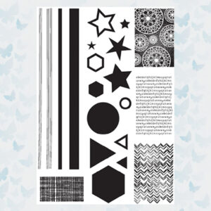 Julie Hickey Clear Stempels Create with shapes JH-A5-1001