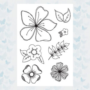 Julie Hickey Clear Stempels Floral Fancies JH1018