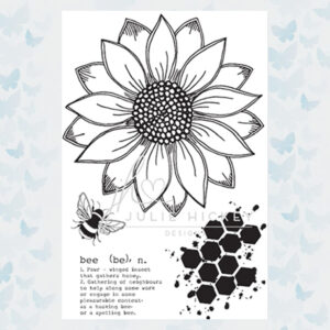 Julie Hickey Clear Stempels Sunflower Bee JH1019