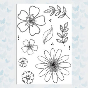 Julie Hickey Clear Stempels Fresh Florals JH1030