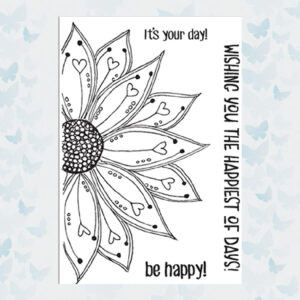 Julie Hickey Clear Stempels Be Happy JH1031