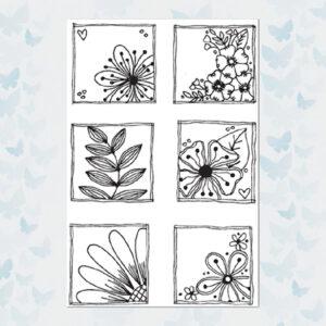 Julie Hickey Clear Stempels Floral Frames JH1035