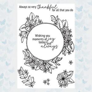 Julie Hickey Clear Stempels Joyful Blooms JH1037